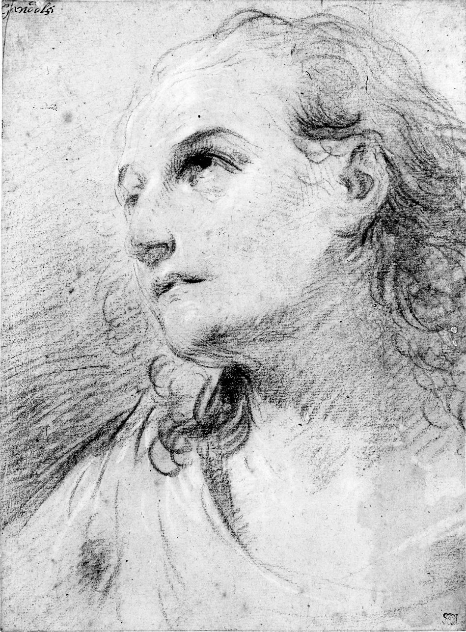 Portrait Of A Man With Shoulder Length Hair Digital Exhibits And Collections