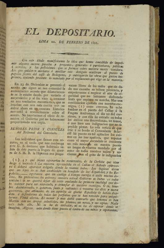 Independence and Infighting: The Press in Early Republican